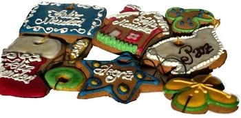 Galletas de Miel decoradas        (Bandeja 195 gr)